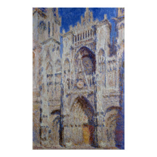 Claude Monet Rouen Cathedral The Portal Poster