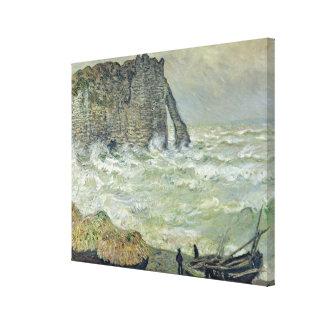 Claude Monet | Rough Sea at Etretat, 1883 Canvas Print
