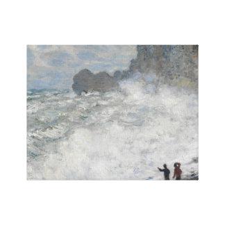 Claude Monet - Rough Weather at Étretat Gallery Wrapped Canvas
