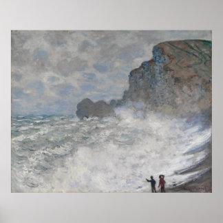 Claude Monet ~ Rough Weather At Etretat Poster