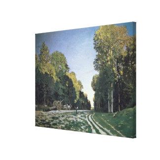 Claude Monet | Route de Chailly, Fontainebleau Canvas Print