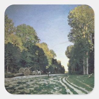 Claude Monet | Route de Chailly, Fontainebleau Square Sticker