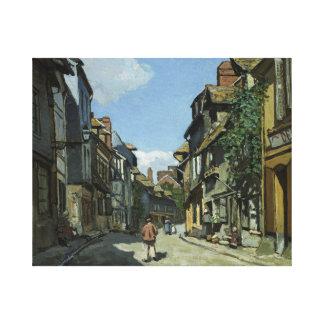 Claude Monet - Rue de la Bavole, Honfleur Canvas Print