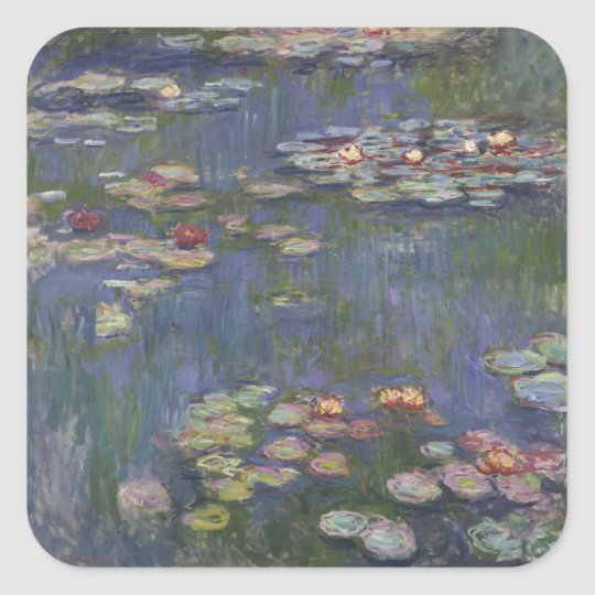 Claude Monet's Water Lilies Square Sticker