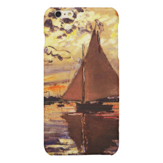 Claude Monet-Sailboat at Le Petit-Gennevilliers iPhone 6 Plus Case