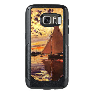 Claude Monet-Sailboat at Le Petit-Gennevilliers OtterBox Samsung Galaxy S7 Case
