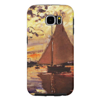 Claude Monet-Sailboat at Le Petit-Gennevilliers Samsung Galaxy S6 Cases