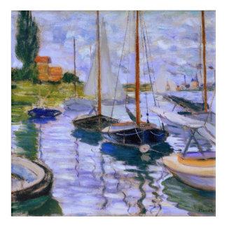 Claude Monet Sailboats on the Seine at Petit 1874 Acrylic Print
