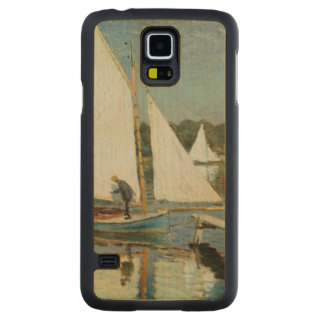Claude Monet | Sailing at Argenteuil, c.1874 Carved Maple Galaxy S5 Case