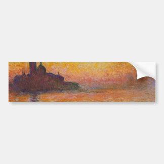 Claude Monet - San Giorgio Maggiore at Dusk Bumper Sticker