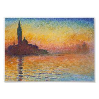 Claude Monet - San Giorgio Maggiore at Dusk Photo Print