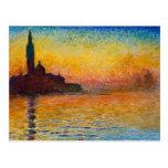 Claude Monet-San Giorgio Maggiore at Dusk Postcard