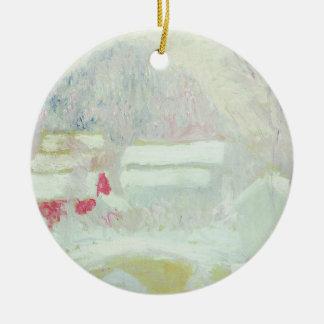 Claude Monet | Sandviken, Norway Round Ceramic Decoration