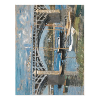 Claude Monet Seine Argenteuil Seinebr?cke bei Arge Postcard