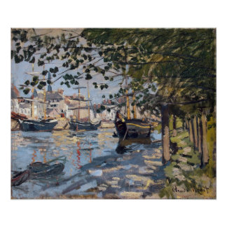 Claude Monet | Seine at Rouen, 1872 Poster