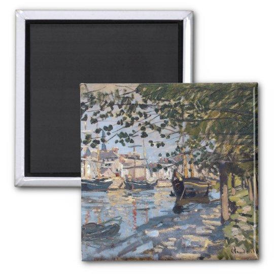 Claude Monet | Seine at Rouen, 1872 Square Magnet