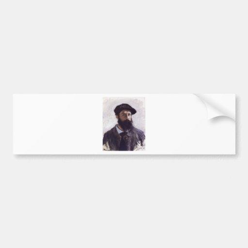 Claude Monet - Self-portrait in Beret 1886 Bumper Stickers