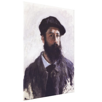 Claude Monet - Self-portrait in Beret Stretched Canvas Print
