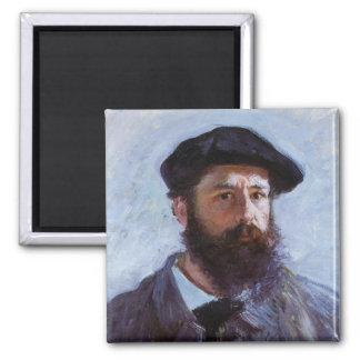 Claude Monet Self-Portrait Square Magnet