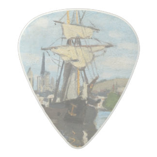 Claude Monet | Ships Riding on the Seine at Rouen Acetal Guitar Pick