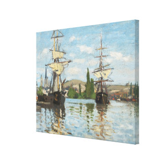 Claude Monet | Ships Riding on the Seine at Rouen Canvas Print