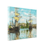 Claude Monet Ships Riding On The Seine At Rouen Gallery Wrapped Canvas