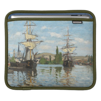 Claude Monet | Ships Riding on the Seine at Rouen iPad Sleeve