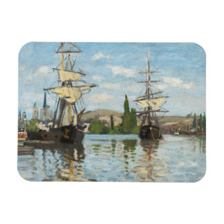 Claude Monet | Ships Riding on the Seine at Rouen Rectangular Photo Magnet