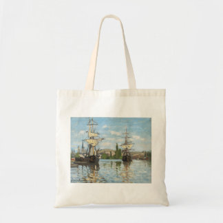 Claude Monet   Ships Riding on the Seine at Rouen Tote Bag