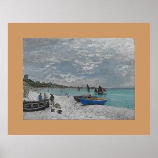 Claude Monet Sky Clouds Boats Ships Sea Ocean Poster