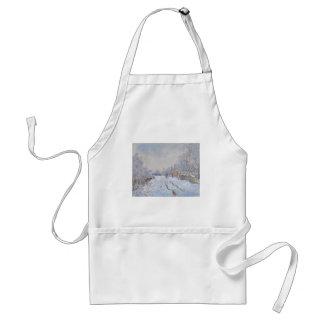 Claude Monet Snow at Argenteuil Apron