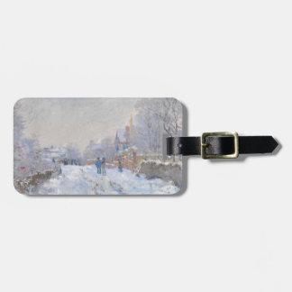 Claude Monet Snow at Argenteuil Bag Tags