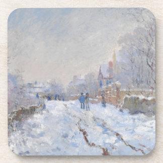 Claude Monet Snow at Argenteuil Beverage Coasters