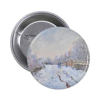 Claude Monet Snow at Argenteuil Buttons