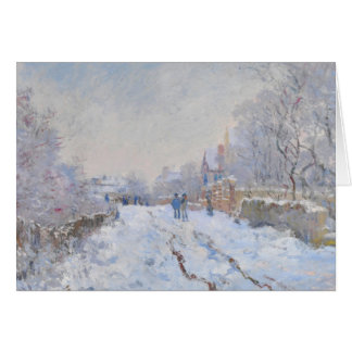 Claude Monet // Snow at Argenteuil Card