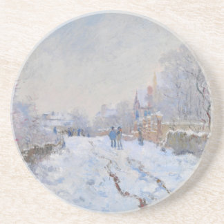Claude Monet // Snow at Argenteuil Beverage Coasters