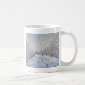 Claude Monet // Snow at Argenteuil Coffee Mugs