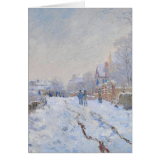 Claude Monet // Snow at Argenteuil Greeting Card