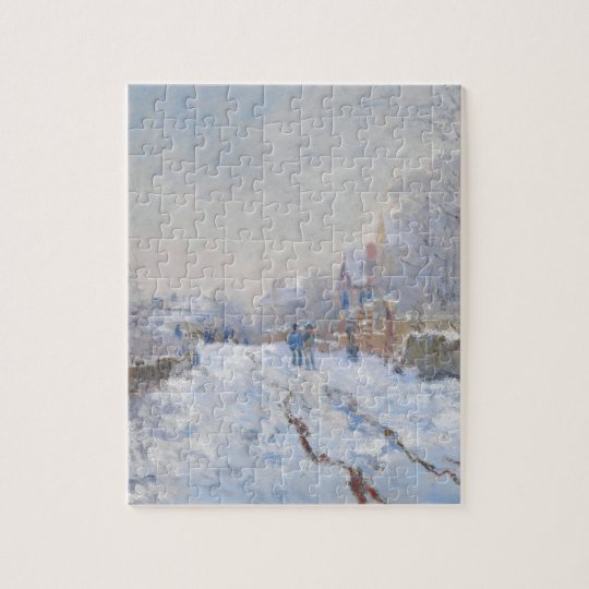 Claude Monet // Snow at Argenteuil Jigsaw Puzzle
