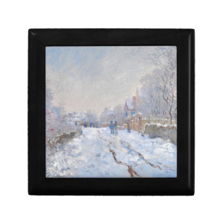 Claude Monet // Snow at Argenteuil Keepsake Box