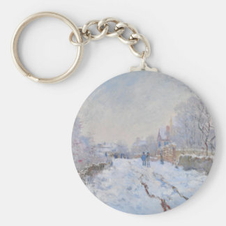 Claude Monet // Snow at Argenteuil Key Chains
