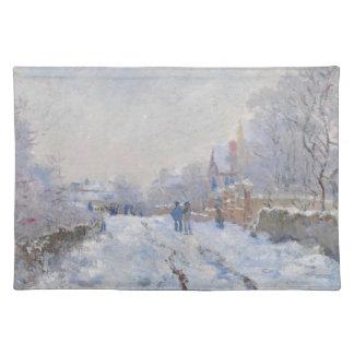 Claude Monet // Snow at Argenteuil Place Mat