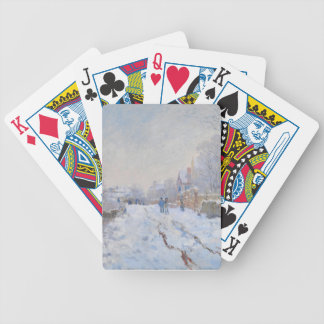 Claude Monet Snow at Argenteuil Playing Cards