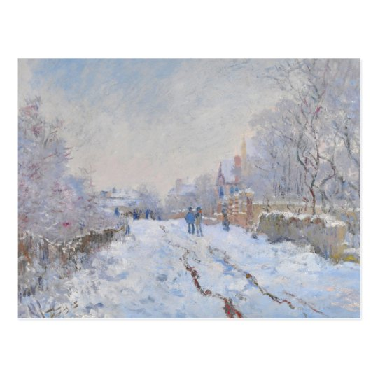 Claude Monet // Snow at Argenteuil Postcard