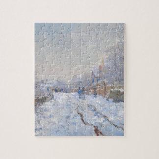 Claude Monet // Snow at Argenteuil Puzzles