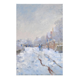 Claude Monet // Snow at Argenteuil Customized Stationery