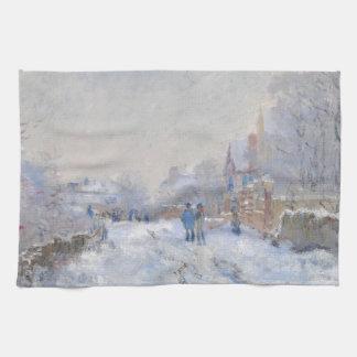 Claude Monet // Snow at Argenteuil Towels