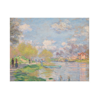 Claude Monet - Spring by the Seine Gallery Wrapped Canvas