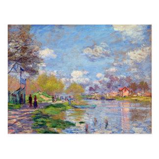 Claude Monet Spring by the Seine Postcard