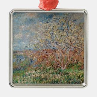 Claude Monet | Spring Silver-Colored Square Decoration